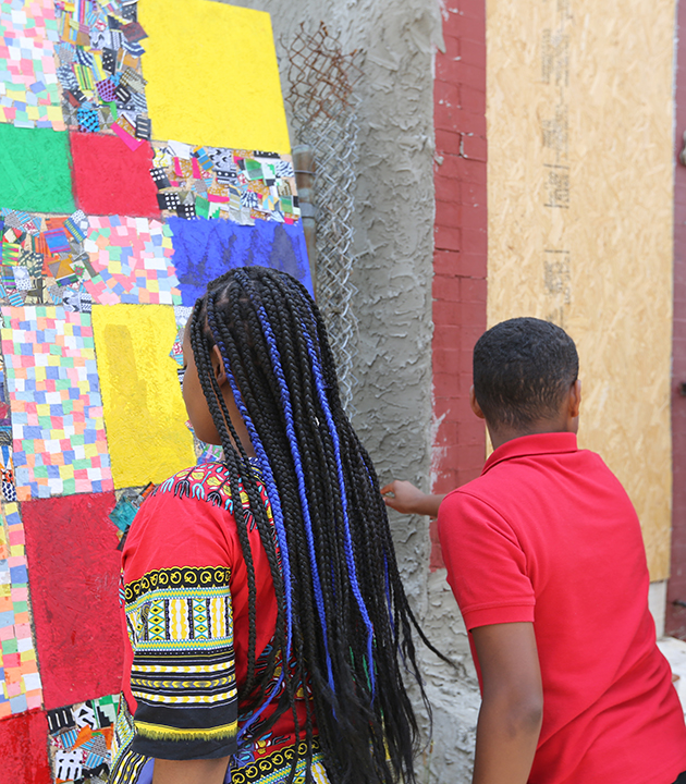 Art board project Sankofa Charter Kensington