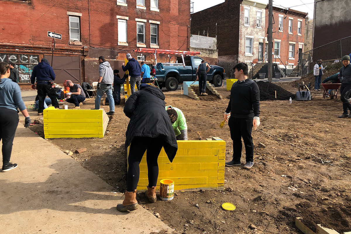 Tusculum Square park build community philadelphia kensington Shift